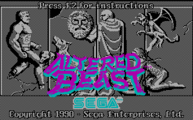Altered Beast CGA title