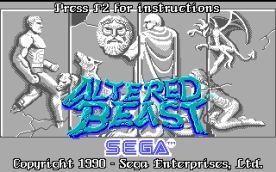 Altered Beast EGA title