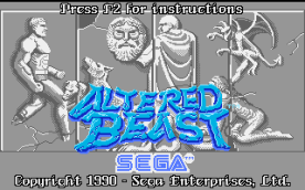 Altered Beast VGA title