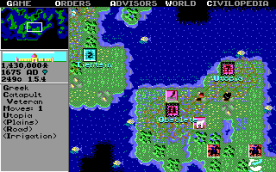 Civilization EGA in-game