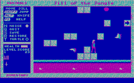 Jill of the Jungle CGA in-game