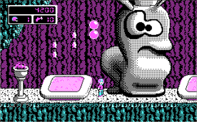 Commander Keen 4 CGA in-game
