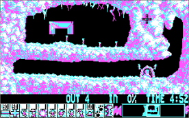 Lemmings CGA level 1