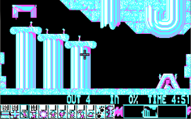 Lemmings CGA level 2