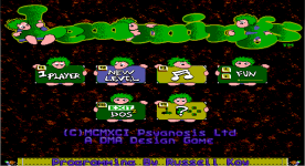 Lemmings EGA title