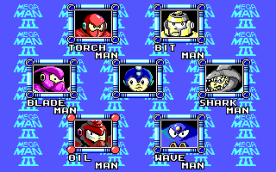 Mega Man III EGA select