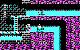 Mega Man III CGA in-game
