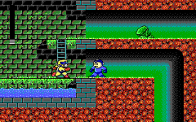Mega Man III EGA in-game
